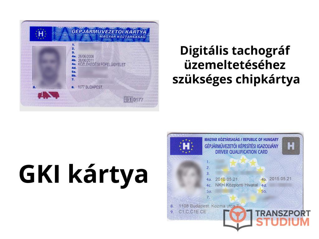 GKI kártya és Digitális tachográf chipkártya - a kettő nem ugyanaz!