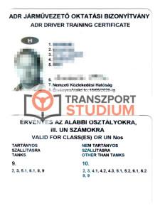 ADR igazolvány - ADR tanfolyamok és vizsga